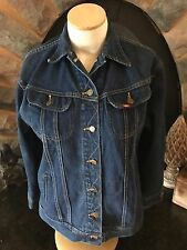 VTG Ms Lee Riders Womens 9/10 Unlined Blue Denim Trucker Jacket