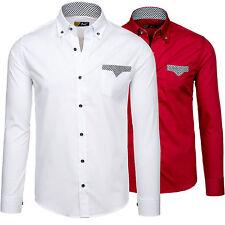 BOLF 4711 Herrenhemd Langarm Freizeithemd Casual Men Shirt Polo 2B2 Slim Fit