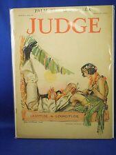 Judge Magazine March 1 1924 Palm Beach Hula Girl & Navy Sailor J.M. Flagg