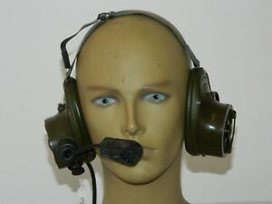 Racal Clansman Radio Headset Magnetic Type, New in Box  [3R2E]