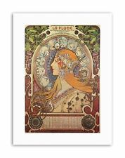 ALPHONSE MUCHA NOUVEAU Picture Old Master Canvas art Prints