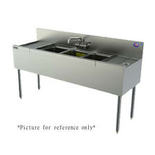 "Perlick Tsd43L 48"" Underbar 3 Compartment Sink with Drainboard Right"