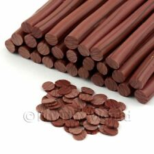 3x Oscuro/ondulación Bastones De Chocolate Con Leche-Arte en Uñas (11nc53)