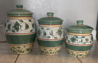 Great deal! Pfaltzgraff FRENCH QUARTER Canisters   Set of 3 Beautiful Set!