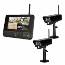 2 Kamera System Comag SecCam11 Videoüberwachung Funk Überwachungssystem IP54