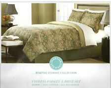 Martha Stewart Cypress Paisley 4 Piece Queen Comforter Set