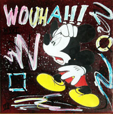 mickey wouha TABLEAU pop street ART graffiti french paint canvas signed graffeur