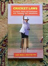 CRICKET LAWS - INDIAN CRICKET - Published in BOMBAY / MUMBAI, INDIA 1992