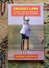Cricket Laws - Indian Cricket - Published in Bombay / Mumbai, India 1992