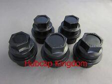 5 NEW BLACK Lug Nut COVERS CAP CHEVY GMC SILVERADO 1500 2500 FULL SIZE TRUCK VAN