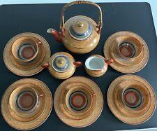 Japanisches Teeservice 1000 Buddhas 18 teilig handbemalt feinstes Porzellan