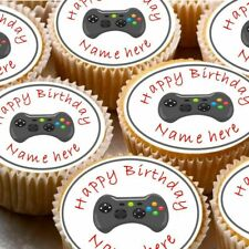 24 icing cake decorations toppers can be personalised gaming controller xbox
