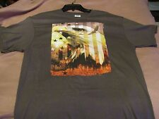 USA Men's Large Tee Charcol Gray With The Eagle On The Front~