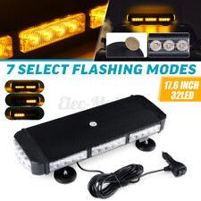 Roof Top Strobe Light Bar 96W LED Amber Emergency Warning Lamp Flashing
