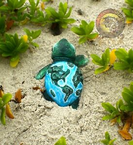 Woodsplitter Lee Cross Original Handmade Sculpture Baby Earth Sea Turtle!