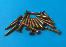 20 x Solid Brass Countersunk Philips Drive Wood Screws 10g x1 1/4""