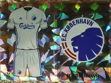 QFD1 QFD2 FC KOBENHAVN kit & badge 2016/2017 Topps Champions League Stickers
