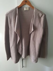 Spirit of the Andes Vintage Pink 100% Baby Alpaca Cardigan Size S Open Waterfall