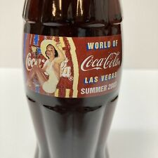 World of Coca-Cola Las Vegas Summer 2003 Pin-Up Glass Bottle Sealed 8 Fl Oz LE