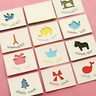 Cute Mini Birthday Greeting Card Postcard Hollow Greeting Cards with Envelope