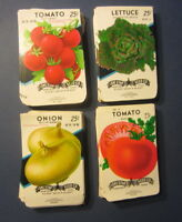 VEGETABLE EMPTY 1960/'s SEED PACKETS Lot of 17 Old Vintage 1930/'s