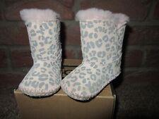 Baby Girls Genuine UGG Australia Boots UK 0.5 Boxed Pink Leopard Print Cassie