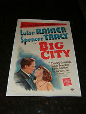 "BIG CITY Original 1937 Movie Poster, 27.25"" x 40.75"", C8.5 Very Fine/Near Mint"