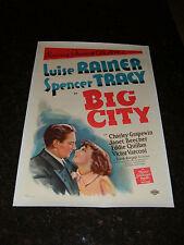 "BIG CITY Original 1937 Movie Poster, 27.25"" x 40.75"", C8.5 Very Fine/Near Mint"