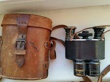 Very rare antique binoculars , leather case
