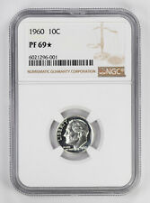 1960 PROOF ROOSEVELT DIME 10C NGC CERTIFIED PF 69* STAR UNCIRCULATED (001)