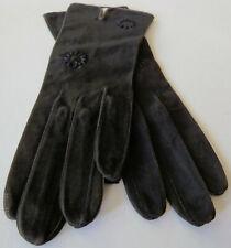 Vintage Gant Perrin Gloves Dark Brown Suede Size 6-1/2 France