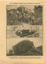 Earthquake in Sicily Ruins Castle Calistry Sicile Italia Italy 1910 ILLUSTRATION