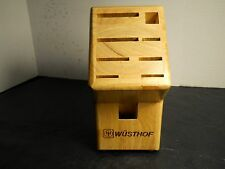 Wusthof 8pc. knife block (Block Only) 9 slot hole butcher knife block