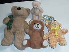 Teddy Bears Lot Of 4 Different Plush Bears Stuffed Animals Baby Bears Teddies