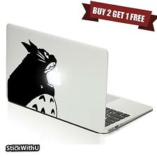 Macbook Air Pro Vinyl Skin Sticker Decal Ghibli Neighbor Totoro Anime Bite m984