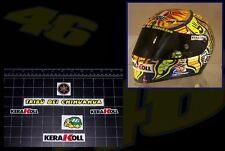 Valentino Rossi KeraKoll helmet decal sticker kit MotoGP Yamaha AGV Turtle 46