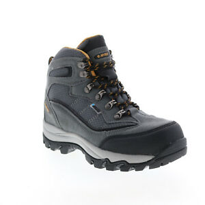Hi-Tec Skamania H-23173 Womens Gray Leather Lace Up Ankle Hiking Boots