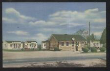 POSTCARD FARMVILLE VA/VIRGINIA BOXWOOD MOTOR COURT & GAS SERVICE STATION 1930'S