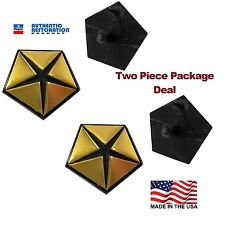 62-75 MOPAR Pentastars Emblems Chrysler Gold Fender Badges Dodge Penta Stars
