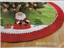"Santa Christmas Tree Skirt 48"""