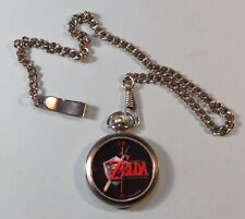 1998 Nintendo Legend of Zelda N64 Ocarina of Time Pocket Watch w Case Black RARE