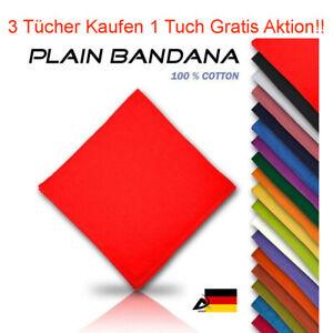 Bandana Einfarbig Kopftuch Halstuch Bikertuch Motoradtuch Schal Tücher B3