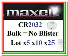 Pila CR2032 MAXEL Bulk Industrial Batteria Bottone Litio Lithium 3v scegli lotto