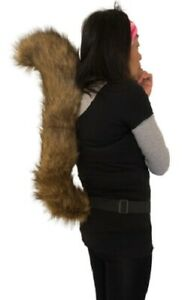 Brown Squirrel Animal Tail Fancy Dress Costume Festivals Carnivals