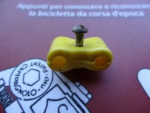 NOS  REG  Campagnolo brake lever cables clip-Yellow