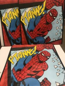 Lot of 2 Vandor Recycled Large Shopper Totes 26173 Spiderman, As Imaged