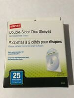 Staples Double-Sided Disk Sleeves 25 count   NEW