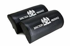 JUNCTION PRODUCE Carbon Fiber Leather Car Seat Neck Cushion Pillow Headrests X2