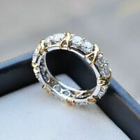 Women Engagement Fashion Rhinestone Jewelry Ring Gold Silver Plated Crystal