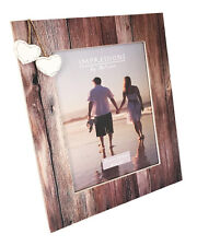 Wedding Honeymoon Holiday Couples Mr Mrs Photo Picture Frame 2 Hearts Gift 8x10""